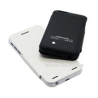 2 in 1 PU Leather Flip Case + 3500mah External Backup Battery Pack Power Bank Charger For iPhone 6