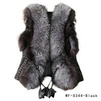 Low Price!!! 2014 New Autumn Spring and Winter High Imitation Faux Fox Fur Vest Gilet Outerwear Women's Coat Plus Size S-XXXL