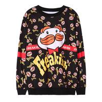 2014 new Autumn women tshirt Harajuku style cartoon blusas femininas loose long sleeve T-shirt WY0345