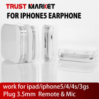 Free shipping!! Earphone for iphone5/5s/5c mp3 with Mic & Remote phone call