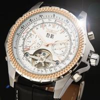 2014 new fashion Tourbillon men luxury watches business gift flywheel high quality classic mechanical self wind wrist watch