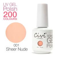 (Choose 10colours+base+top) Civi UV Gel Polish soak off Nail Gel Long Lasting 200 Gorgeous Colors The Best Gel Polish