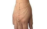 New 2014 Celebrity Multi Chain Tassel  Bangle Slave Finger Ring Hand Harness