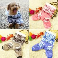 Free ShippingNEW Pet Dogs Winter Cotton Coat Jacket Snowflower Xmas Warm Hoodies CostumesFree&Drop Shipping