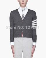 THOM BROWNE men's casual knit cardigan sweater coat College Wind