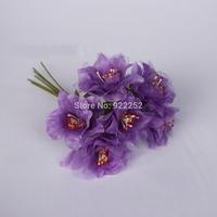 4CM artificial silk stamens Organza roses bouquet,hand wrist corsage flower hair garland accessories,boutonniere,diy arrangement