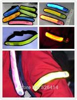 new 8 Colors Flashing Reflective LED Glow Armband Belt Visible Hiking Jogging Biking