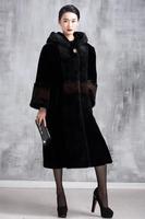 2014 Plus Size Winter Warm Luxury  X-Long Overcoats Ladies Elegant Mink Fur Jacket New Fashion Women's Fur Outerwear Coat A132