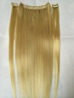 "16""-28"" (1+4) set 100% chinese remy human hair clips in/on hair extensions #613 blonde 100g 120g 140g 160g"