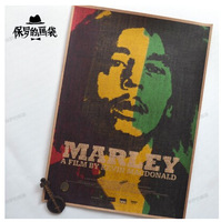 Bob. Marley rock music poster living room decorative painting paintings bar retro kraft paper poster