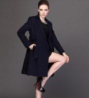 Louisa Girls-season winter new wool coat long paragraph wool blend suit jacket collar Slim NDX116  Y9W