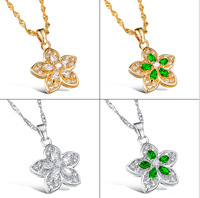 Flower Necklace For Women Jewelry Platinum Plated Jewelry Use Austria Crystal Pendant Necklace,Free Shipping