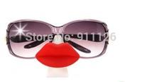 Free shipping 20pcs/lot 2014 Hot lips Eyeglass Holder Duck lips Sunglasses Stand Glasses Stand Holder Funny Eyewear Accessories