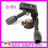 Free Shipping Aluminum Camera Tripod Ball Head QZSD-80 Q-80 Q80 Ballhead+Quick Release Plate Pro Camera Tripod  PTZ