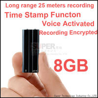 8GB,time stamp+voice activated+encryption+long range 20Meter audio recorder voice recorder,USB voice recorder audio recorder pen