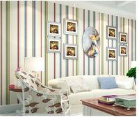 home decoration art 3d wallpaper papel de parede modern mural photo wallpaper roll vintage stripe chinese bedroom tv wallpaper