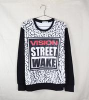 2014 hot new fashion  sweatshirts hoodies pullover vision street brand  crewneck racksuit sportswear punk hip hop