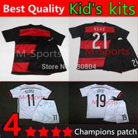 2014 World Cup 4 stars kids Germany kid's kits, Champions Patch,Soccer Jerseys germany Kids Baby Uniform Children Jersey sets