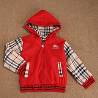 Children's jacket Spring autumn Winter coat kids plaid jacket Hooded Jacket girls/boys Outerwear fo 1-6years