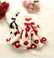 Free shipping - 2014 European and American fashion sunflower small rabbit fur coat of the girls Winter model fur garment