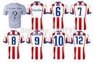 Free shipping 2014/2015 best Thailand Quality LFP Spain league jersey GODIN KOKE Gabi GRIEZMANN MANDZUKIC ARDA Soccer jersey