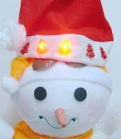 Free shipping 10 pcs Led Flashing Christmas Caps Light Up Stanta Hats Fast Shipping Christmas Promotion red xmas caps