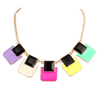 New Arrival Free Shipping fluorescence  Geometry sqare pendants & Necklaces  XL-331