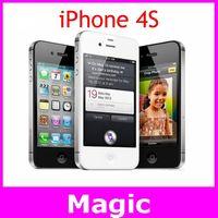 Original Apple iPhone 4S GPS WIFI 16GB/32GB storage 3.5 inch Screen Dual Core mobile Phone free shipping