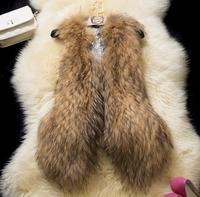 2014 New Colete Pele New Women Winter Faux Fake Fur Vest Fashion Brown Warm Thick Sleeveless Vests Womens Jacket Coat Plus Size