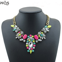 2014 new design high quality jewelry fashion women color acrylic statement collar necklace Necklaces & Pendants