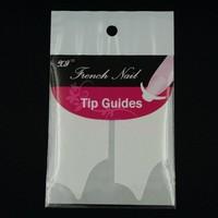50 packs/Lot Y Shape White French Tips DIY Design Stencil Guides Sticker Salon Finger Toe Nail Art Manicure Supplies Wholesales