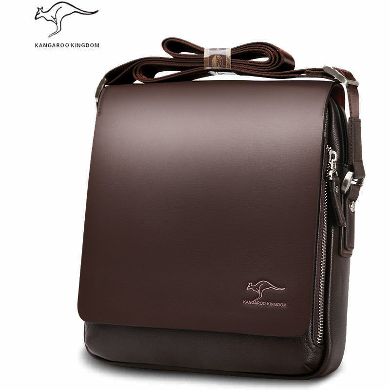 Genuine cowhide Leather Shoulder leisure handbag Kangaroo men's zipper bags business messenger briefcase Laptop Casual Man Purse(China (Mainland))