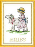 Aries (1) Pattern Counted Cross Stitch 11CT 14CT DMC Cross Stitch sets DIY Cross Stitch Kit for Embroidery Wall Decor Needlework