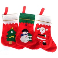 Hot Sale Christmas Socks  38cm height  Christmas Hanging Stockings Decoration Santa Claus Santa Deer Snowman,Drop Shipping,