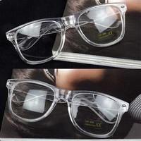 2015 I-bright New Retro Classic Transparent White 2140 Wayfarer Glasses Frame Men/Women Prescription Glasses Plain Mirror