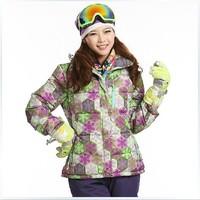 New 2014  Brand Woman Ski Suit Jackets Winter Sports Dress Skiing Snowboard Jacket Waterproof ski Jacket