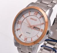 Luxury Fashion Classic Stainless Steel Waterproof Quartz Watch, Automatic Calendar Watch Men.