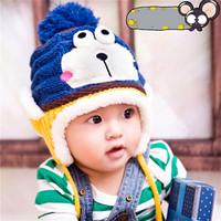 2014 new baby hat winter Super cute frog modelling and velvet children knitted crochet hats cartoon hats baby caps