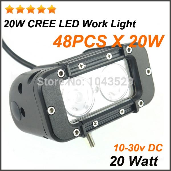 48PCS X 20W Cree 4wd Led Work Light 12 24V DC 20 Watt Cree Truck Led Working Light Bar Work Light Cree Led(China (Mainland))