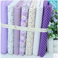 24*24cm Romantic purple 7 color little stripe cotton group of cloth of pure cotton cloth  handmade DIY quilt fabric 7PCS/LOT