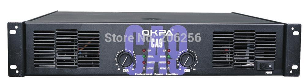 OKPA Crest audio CA9 20x600W 8 ohms 1200W amplifier top professional power amplifier CA serial Professional Power Amplifier(China (Mainland))