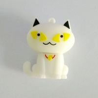 Fast ship 4gb 8gb 16gb 32gb lovely white Cat USB 2.0 flash drive memory pen disk Drop ship dropshipping