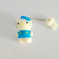 Fast ship 4gb 8gb 16gb 32gb cute blue Hellokitty cat USB 2.0 flash drive memory pen disk Drop ship dropshipping