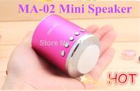Best price 150pcs Portable MA-02 speaker ,USB Mini speaker, Cylinder Shaped Speaker, Mirco SD Card Music Player Free shipping