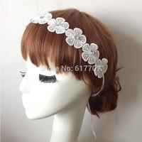 Free Shipping European Floral Rhinestone Crystal Lace Bridal Headband Wedding Hair Accessories TS065