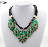 2014 New Arrival Luxury multicolor Fashion Necklace JC Shourouk Chain Chunky Choker Statement Floral Necklace & Pendant Women