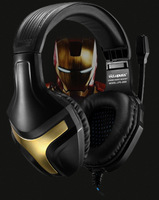 Free Shipping 2014 Iron man high-quality Stereo Gaming Microphone Headphone