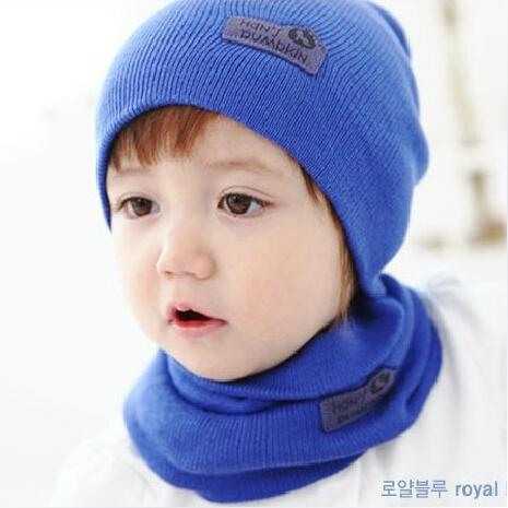 2014 NEW Baby Kids Warmer Cartoon Ear Caps Hat Wrap Scarf Sets Children Kids Girls Boys Cap Free Shipping(China (Mainland))