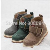 2014 autumn models retro shoes men women children tendon soft bottom baby boy Martin boots knight