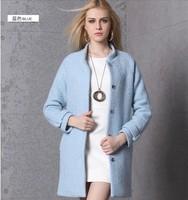 Days Ruika European station 2014 new winter wool coat Slim Girls long woolen coat collar female NDX124  Y9W